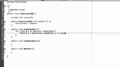 como sumar cadenas en java tutorial 13 java parte 2 ejercicios ordenar vector de