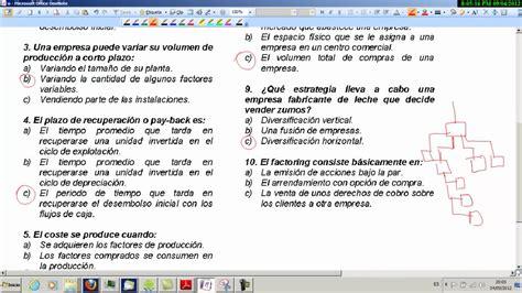 economa 2 bachillerato 8467587121 examen tipo tests 01 selectividad econom 237 a 2 186 bachillerato youtube