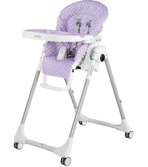 Peg Perego High Chair Zero3 by Peg Perego Prima Pappa Zero 3 High Chair Baby Dot Lilac