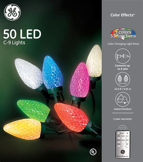 ge color effects lights 73007 ge color effects 174 led c 9 lights 50ct rgb ge