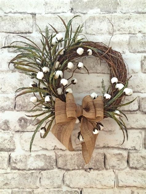 grapevine floral design home decor the cotton boll wreath summer wreath for door front door wreath