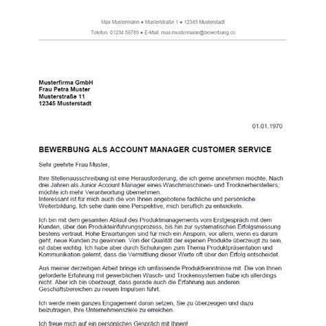 Anschreiben Bewerbung Key Account Manager Bewerbung Als Account Manager Account Managerin Bewerbung Co