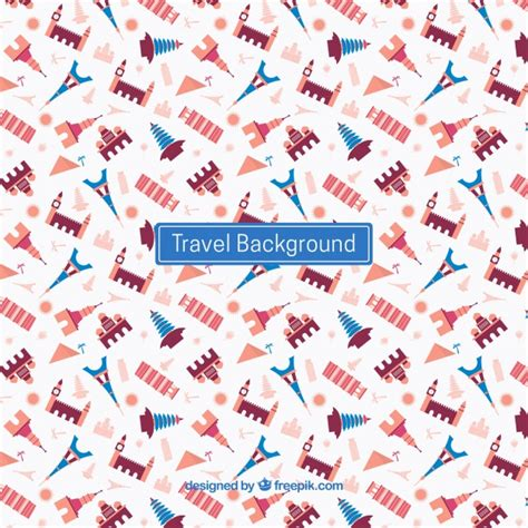 pattern travel background colorful travel pattern background vector free download
