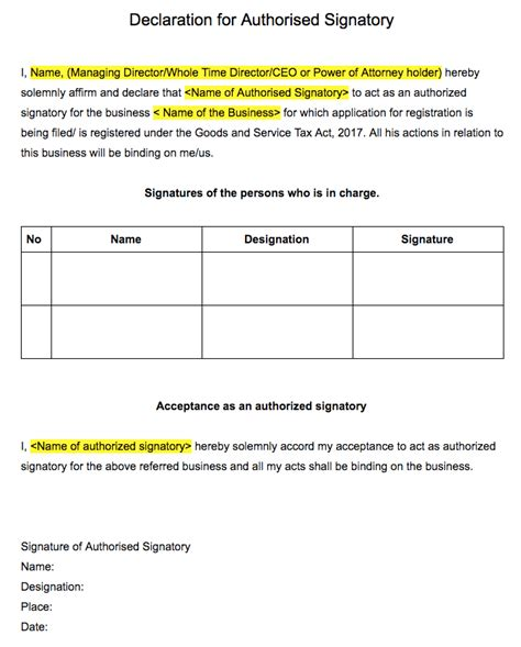 authorization letter format for gst authorization letter format for gst used cars still brum