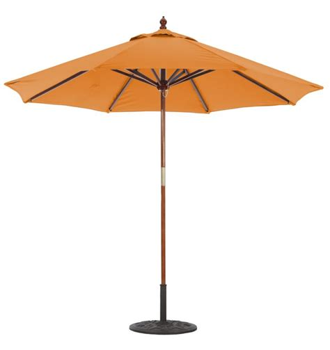 Wooden Patio Umbrella Commercial Patio Umbrellas