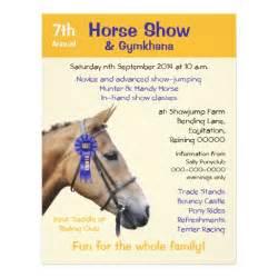 Rustic Wedding Program Templates Horse Show Or Event Flyer Zazzle