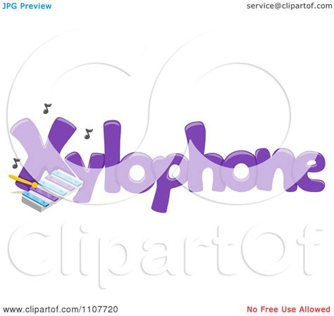 5 Letter Words Vector clipart the word xylophone for letter x royalty free