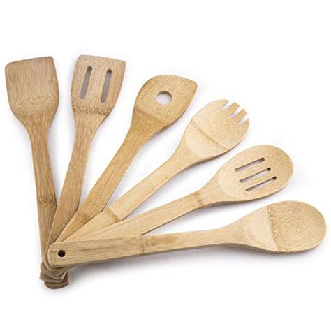 67 megalowmart 174 6 bamboo kitchen tools utensil set