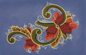 To try to emulate the traditional norwegian painting style rosemaling