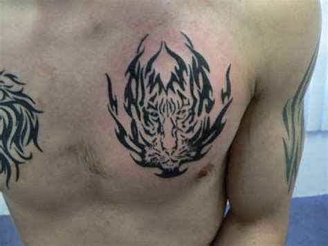 tattoo tiger tribal tiger chest tribal www pixshark images
