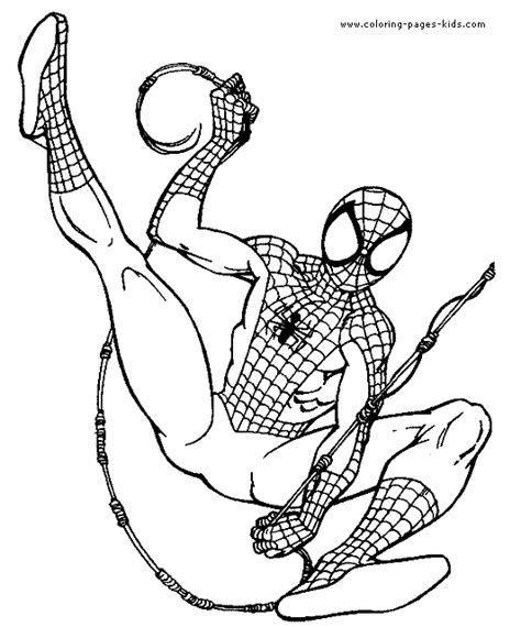 free coloring pages of cartoon spiderman