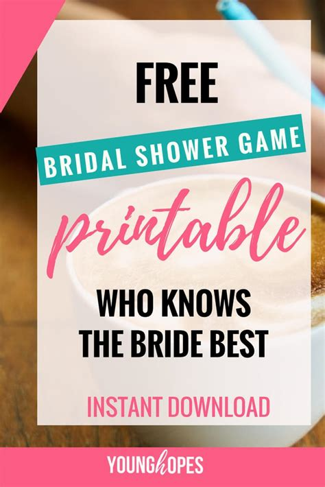 best bridal shower free who knows the best free printable bridal shower