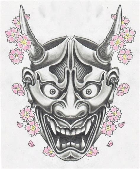 chinese hannya mask tattoo 7 best hanya mask sketchbook images on pinterest japan