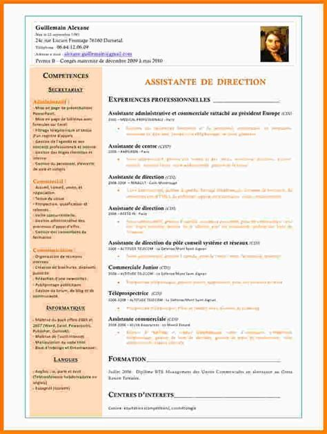 6 cv assistante de direction exemple lettre modeles