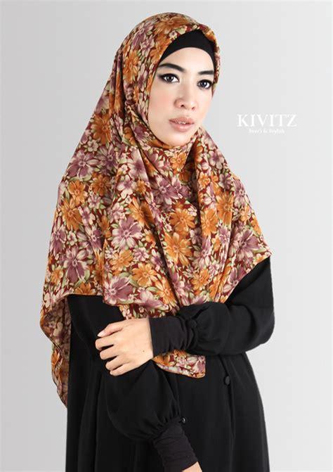 tutorial hijab syar i kivitz kivitz hijab tutorial floral chiffon scarf