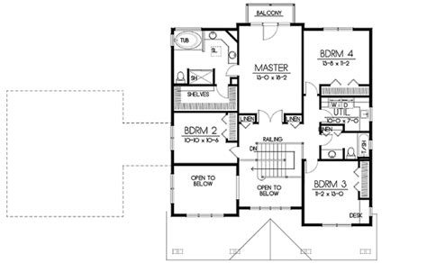 1 floor plan craftsman style house plan 5 beds 3 baths 2968 sq ft