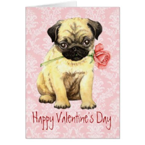 pug valentines card pug dogs gifts t shirts posters other gift ideas zazzle