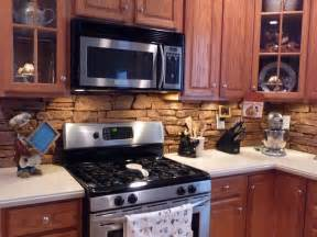 Stone Kitchen Backsplashes by Kitchens Faux Panels Faux Stone Backsplash Ideas