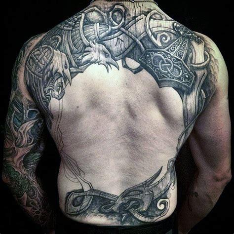 viking tattoo back designs mans back nordic themed eagles tattoo next tat