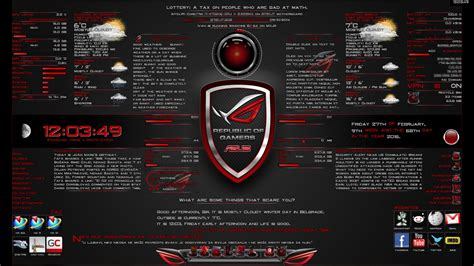 computer themes download 2015 asusrog by ivan 1 0 by deivantan on deviantart