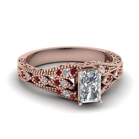 buy affordable vintage rose gold engagement rings online