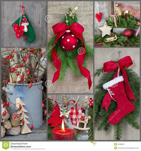 classic christmas decoration country style with red green