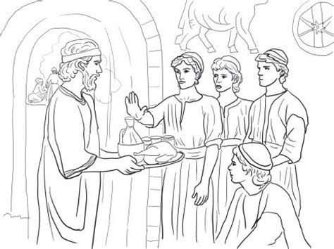 Daniel Makes Good Choices And Refuses King S Food Daniel And His Friends Coloring Pages
