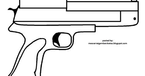 mewarnai gambar mewarnai gambar sketsa pistol 1