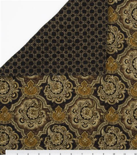 Brown Quilting Fabric quilt fabric black brown floral rings jo