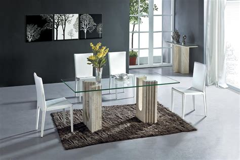 white travertine dining table set luxury high quality