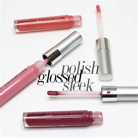 mirabella colour luxe lip gloss in glossed and sleek citizens of