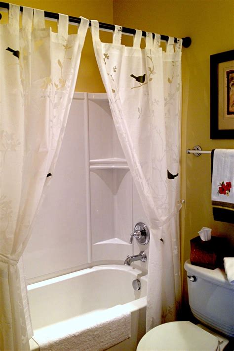 Use Window Curtains As A Shower Curtain For The