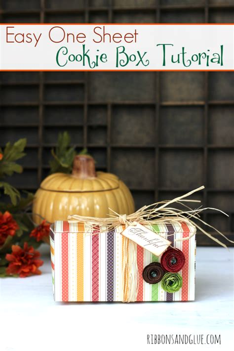 How To Make A Cookie Box Out Of Paper - follow this easy cookie box tutorial made out of one sheet