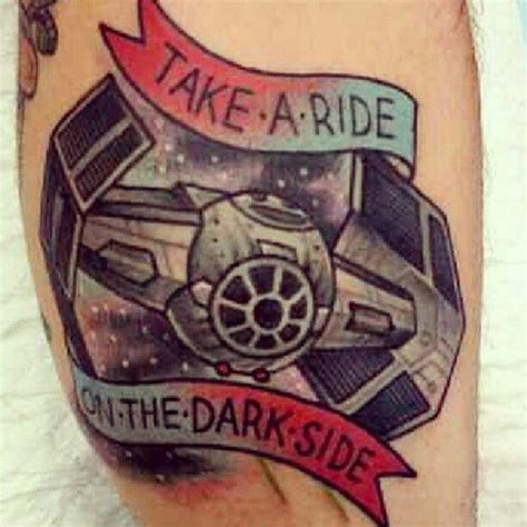 dark side tattoo starwars darkside ink starwarstattoo girlwithtattoo