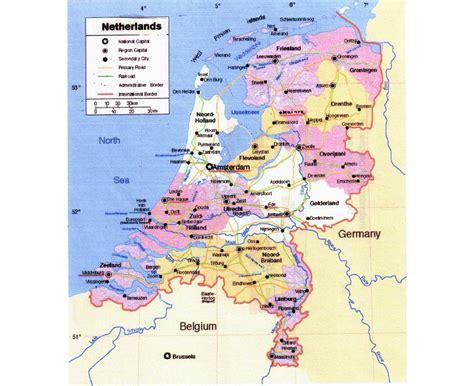 netherlands large map maps of netherlands detailed map of netherlands