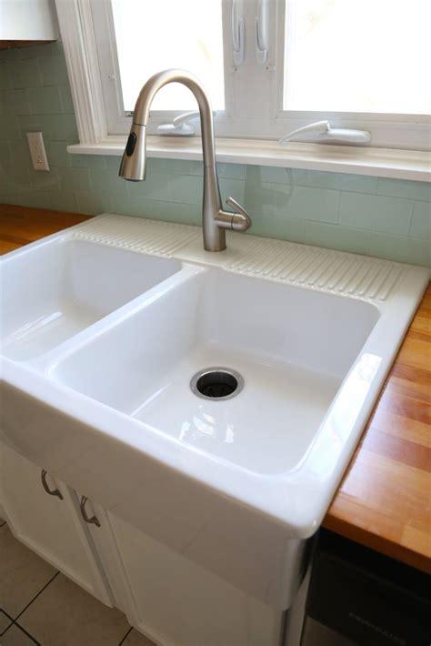 plumbing an ikea domsjo 36 quot double sink paul renie s best 25 farmhouse garbage disposals ideas on pinterest