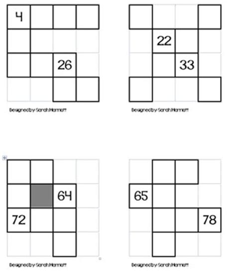 printable hundreds chart puzzles here are 20 different puzzles to use to work with the