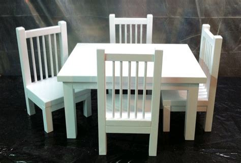 table and chair set for an american doll or any 18