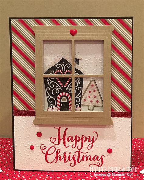 gingerbread house window video hearth home candy cane lane christmas card maria s cards and more