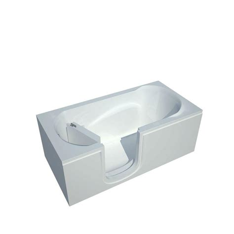 bathtub drain home depot universal tubs 5 ft left drain walk in bathtub in white