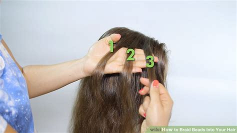how to bead hair 3 ways to braid into your hair wikihow