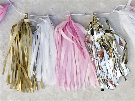 Make Your Own Paper Garland - make your own tissue paper tassel garland gardens