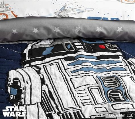 Wars Quilted Bedding by Wars Droid Quilted Bedding Pottery Barn