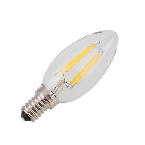 E12 Led Light Bulb Dimmable E12 Light Bulb Led Retro Edison Cob Filament Candle L 110v 2 4 6w