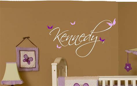 butterfly  baby girl wall decal nursery decor vinyl