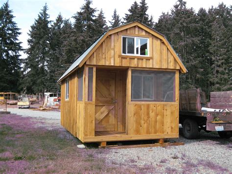 mini barn house rough cut sheds barn style