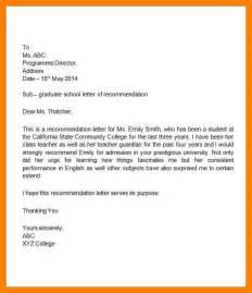 10 sample letter of recommendation for student basic