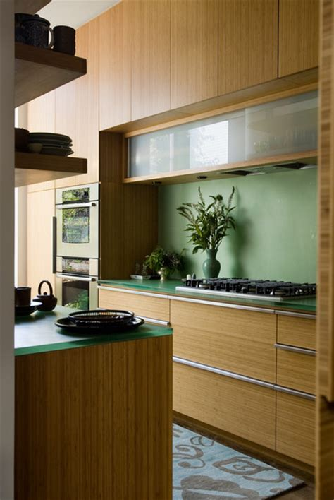 bamboo cabinets kitchen kitchen with bamboo cabinets and resin countertops