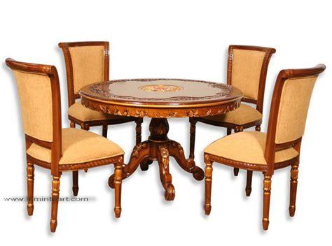 Kursi Busa Bulat kursi meja makan jati jepara ukiran salina meja bulat