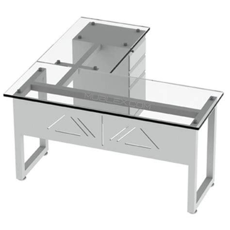 escritorio vidrio escritorio en l vidrio mublex colombia